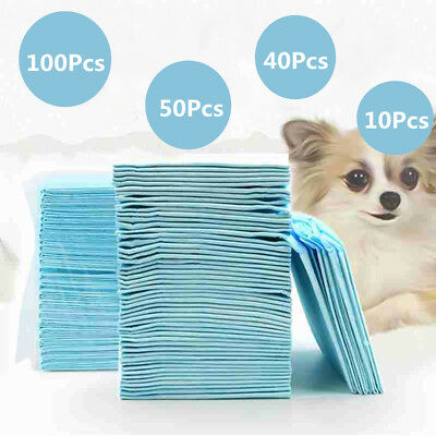 100PCS Puppy Pet Dog Cat Kitten Toilet Pee Training Pads Super Absorbent Diapers