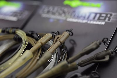 Korda NEW Safe Zone Dark Matter Kamo Leader Hybrid Lead Clip 1mtr *All Colours*