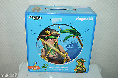 Set Coffret Melamine Playmobil Pirate Neuf Assiete+Bol+Gobelet+Couvert