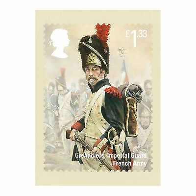 Waterloo - French Army Grenadiers, Imperial Guard - Royal Mail Phq 403 Postcard