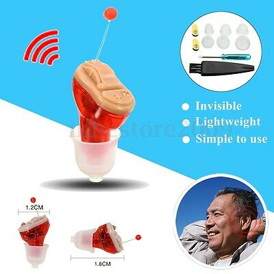 MiNi Digital Invisible Hearing Aid CIC Small Sound Voice Tone Amplifier Enhancer