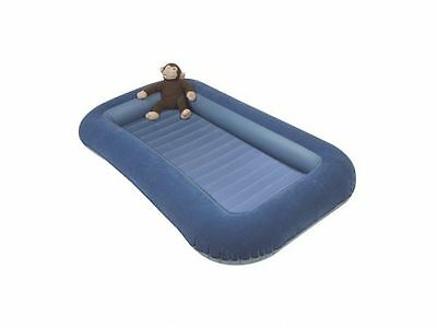 Kampa Airlock Junior Camp Air Bed with Side Cushions Bumper Blue