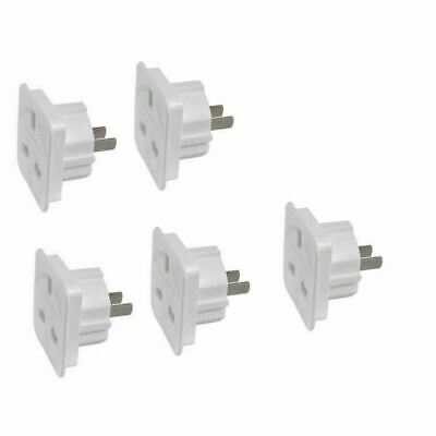 5 x UK to Colombia, Costa Rica, Cuba Power Adaptor Plug Converter Travel Adapter