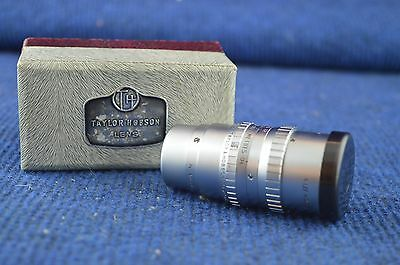 Lovely Vintage Taylor Hobson 1.5 Inch f/1.9 Serital Lens Made In England RD7427