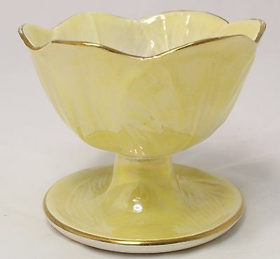 Vintage Maling Lustre Ware Sundae Dish Yellow. Exc Cond