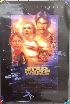 "Original 1997 Star Wars Special Edition Movie Poster- 27"" x 40"" Rolled"