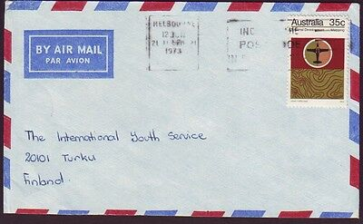 1973 COMMERCIAL COVER WITH 35c MAPPING - CONTEMPORARY USE AND FINLAND ADDRESSEE