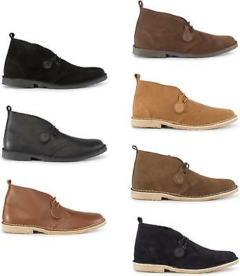 Popps™ ORIGINAL Unisex Mens Womens Suede/Leather Casual Lace Up Desert Boots