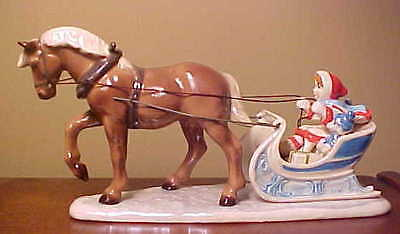 Hagen-Renaker Specialty #3385 HORSE DRAWN SLEIGH - Made in 2017 - SEE COLORS!