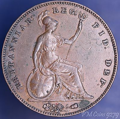 1855 Victoria penny Young Head 1d, very nice coin *[9279]