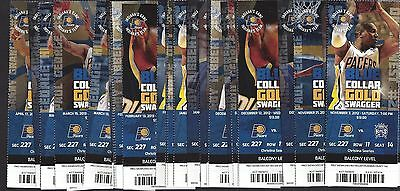 2012-13 Nba Indiana Pacers Basketball Complete Season Full Tickets - 41 Tix