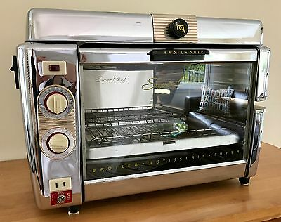 Mid-Century Modern Raymond Loewy Broil Quik Super Chef Broiler,  Manual, & Tools