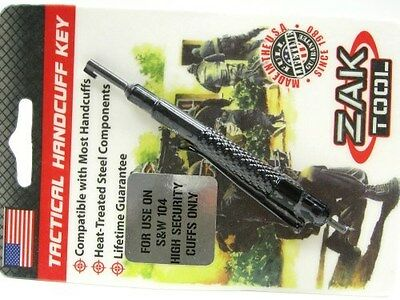 ZAK TOOL Tactical Pocket Handcuff Key For Smith & Wesson S&W 104 New! ZT-14-104
