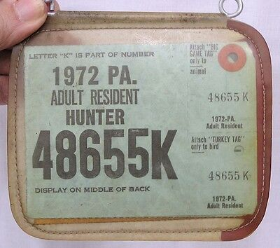 Vintage pa hunting license 1925 co 65 westmoreland cad for Pa fishing license