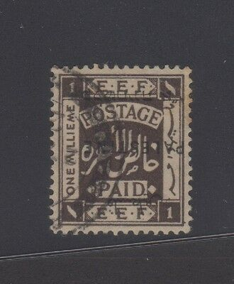 Palestine 1922 1m dark brown inverted surcharge, used, Scott 48a, Gibbons 71b
