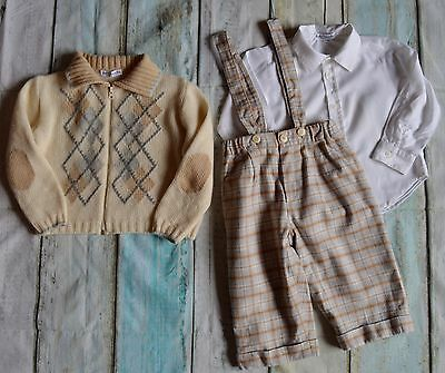 Baby Boy Designer Clothes Bundle Graziella To 9-12 Months Jacket Shirt Trousers