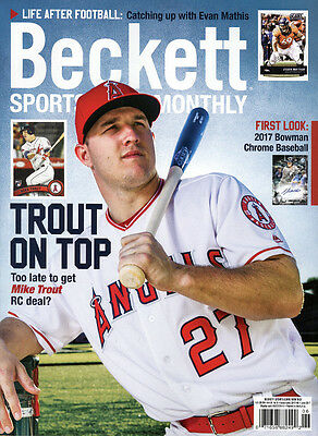New Beckett Sports Card Monthly Price Guide #387 June 2017