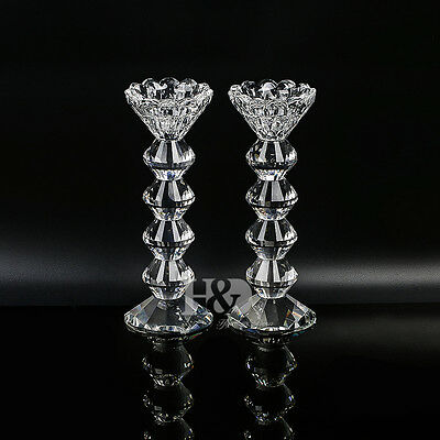 Vintage Crystal Candelabra Wedding Candle Holder Centerpieces Candlesticks Big