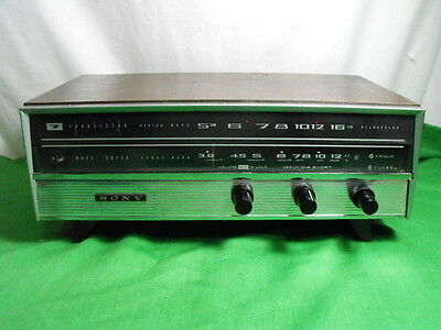 Sony Tr-711 Am Sw Shortwave Radio Receiver Vintage 1959 Japan Battery Dc Only