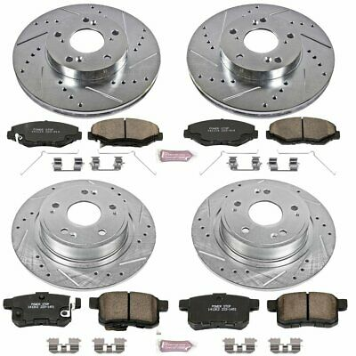 Powerstop 4-Wheel Set Brake Disc and Pad Kits Front /& Rear New for KOE6509