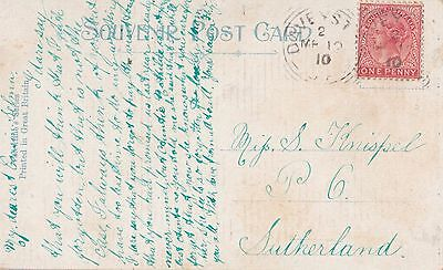 DAVEYSTON South Australia postmark on 1d red queen Victoria stamp on postcard