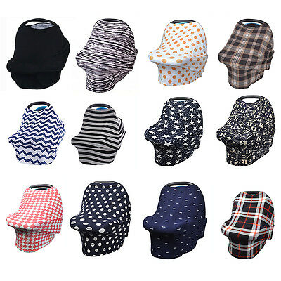 Multi-function Stretchy Baby Newborn Infant Nursing Cover Car Seat Canopy