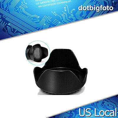 58mm Petal Flower Lens Hood II For Canon Nikon Sony Olympus Camera US