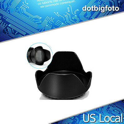 58mm Reversible Petal Flower Lens Hood II For Canon Nikon Sony Olympus Camera US