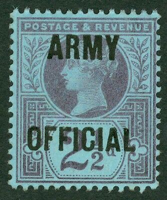 SG 044 2½d Army official. Fresh mounted mint CAT £550