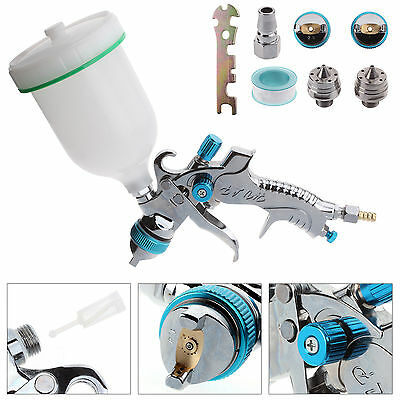 HVLP Gravity Feed Spray Gun Car Vehicle Paint 1.4MM 1.7MM 2MM Nozzle 600CC Cup