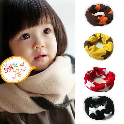 Baby Boys Girls Winter Warm Scarf Kids Windproof Snood Neckerchief Knitted Scarf