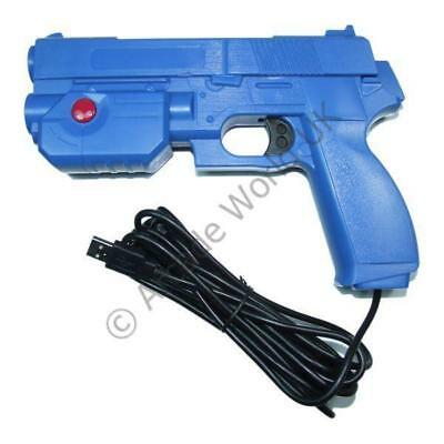 Ultimarc AimTrak Blue Arcade Light Gun With Line Of Sight Aiming Without Recoil