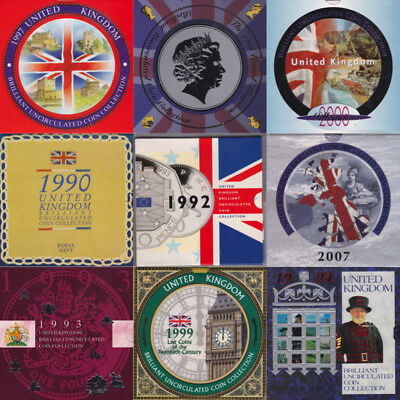 1982 - 2008 Brilliant Uncirculated Coin Year Sets BU British Pack set Packs UK