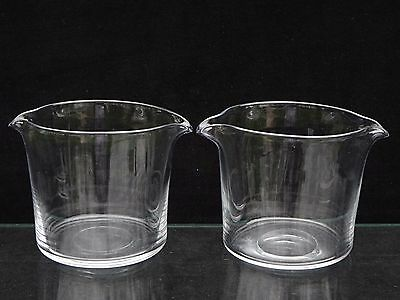 2 Antique 19Th C. English Blow Glass Double Lip Wine Rinsers W/ Polished Pontils