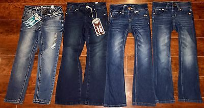 LOT GIRLS JEANS SIZE 5 ALL JUSTICE 2 -NWT Knit Boot Super Skinny Flare