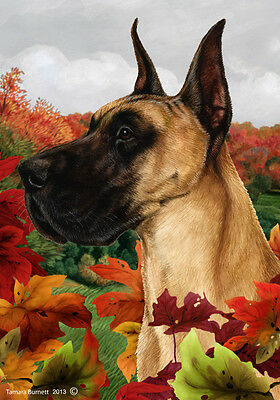 Garden Indoor/Outdoor Fall Flag - Fawn Great Dane 130201