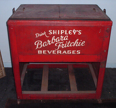 RARE 1940s SHIPLEY'S BOTTLING WORKS Frederick MD Barbara Fritchie Soda Cooler