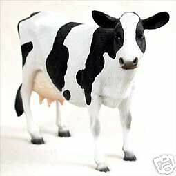 "NEW Cow Holstein Cows 5"" Figurine Sculpture Statue Life Like Realistic CC-AF43"