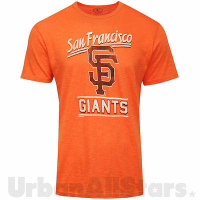 Mens 47 Brand San Francisco Giants T Shirts Orange MLB Baseball Shirt Crew Top