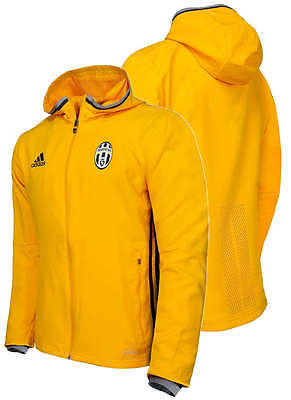 Presentation FC Juventus Adidas Training Jacket 2016 17 Yellow ZIP POCKETS