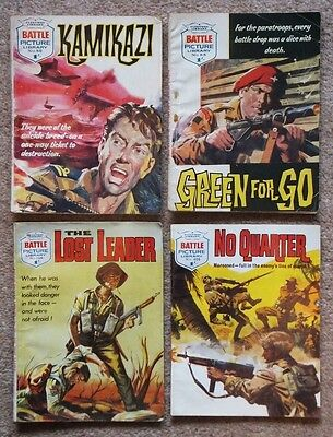 Battle Picture Library: 4 x 1962/1969 issues. 86, 88, 136, 406; good condition.