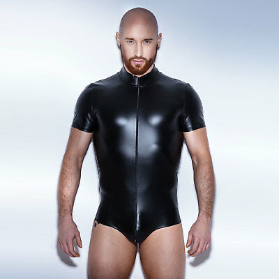 NOIR HANDMADE Herren Wetlook Bodysuit -wie Gummi/Latex- Hot Jumpsuit for men