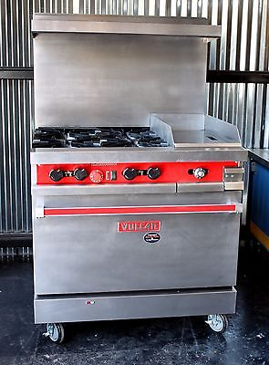 """Vulcan 36"""" GAS Range With 4 open burners and 12"""" Griddle & CONVECTION OVEN !!"""