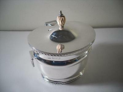 A Georgian Style Two Handled Silver Tea Caddy : Chester 1922