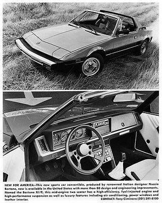 1983 1984 Fiat 124 Spider Pininfarina X1/9 Bertone US Factory Photo ca6540