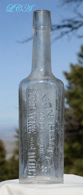 CHOICE antique COCA WINE bottle VAN HAUFF'S contained COCAINE