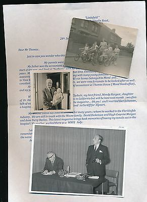 3 ORIGINAL PHOTOS WITH LETTER OF CLYDACH (Swansea)