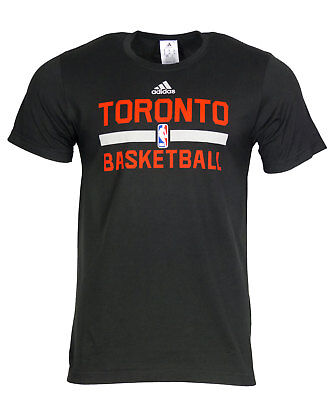 Adidas NBA Basketball T-Shirt Toronto Raptors Logo Games Shirt S M L XL On Court