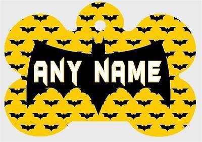 BATMAN Pesonalized PET ID TAGS Custom Any Name Dog Tag Printed on 2 Sides