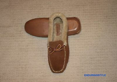 NEW Polo Ralph Lauren Blue Suede Leather Shearling Slippers 8 9 10 11 12 13